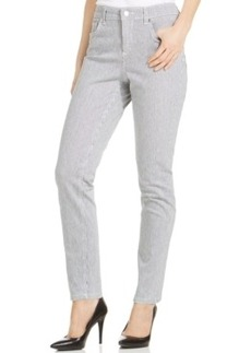Jones New York Signature Pinstripe Skinny Ankle Jeans