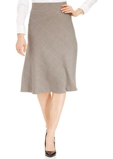 Jones New York Signature Plaid Houndstooth-Print Skirt