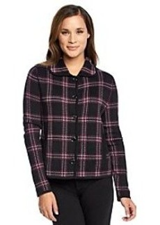 Jones New York® Signature Plaid Sweater Jacket