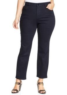 Jones New York Signature Plus Size Ankle-Length Straight-Leg Jeans, Indigo Wash
