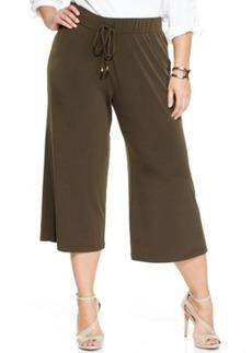 Jones New York Signature Plus Size Cropped Wide-Leg Pants