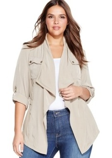 Jones New York Signature Plus Size Drape-Front Jacket