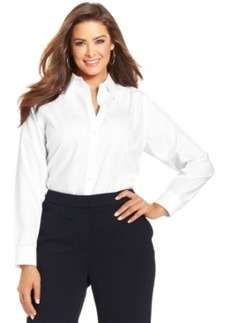 Jones New York Signature Plus Size Easy Care Long-Sleeve Shirt