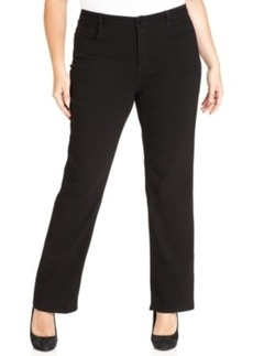 Jones New York Signature Plus Size Gramercy Curvy Bootcut Jeans, Black Rinse