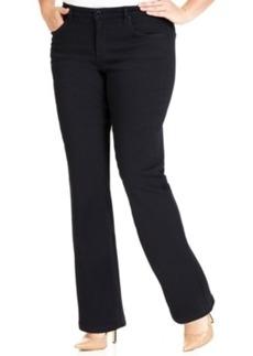 Jones New York Signature Plus Size Gramercy Curvy Bootcut Jeans, Indigo Rinse