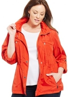 Jones New York Signature Plus Size Hooded Anorak