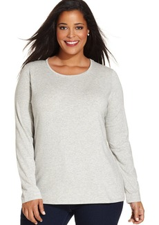 Jones New York Signature Plus Size Long-Sleeve Top