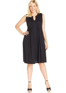Jones New York Signature Plus Size Pintucked Dress