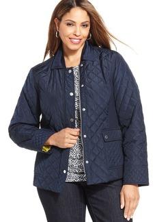 Jones New York Signature Plus Size Quilted Jacket