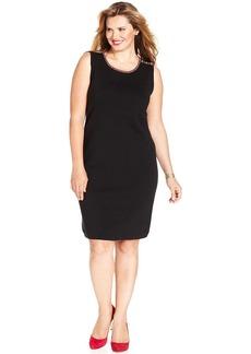 Jones New York Signature Plus Size Sleeveless Sweater Dress