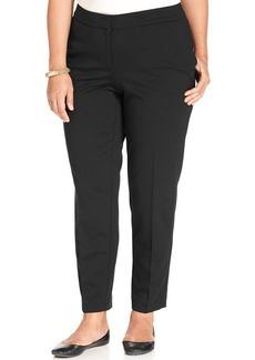Jones New York Signature Plus Size Slim-Leg Trousers