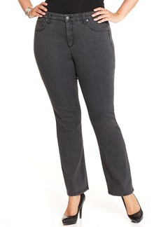 Jones New York Signature Plus Size Straight-Leg Jeans, Graphite Wash