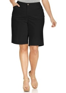 Jones New York Signature Plus Size Tummy-Control Bermuda Shorts