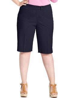 Jones New York Signature Plus Size Twill Bermuda Shorts