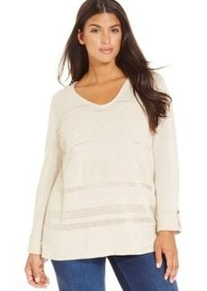 Jones New York Signature Plus Size V-Neck Sweater