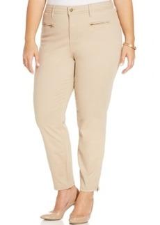Jones New York Signature Plus Size Zip-Pocket Ankle Pants