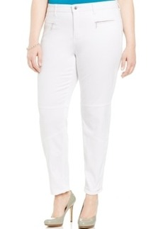 Jones New York Signature Plus Size Zip-Pocket Skinny Pants