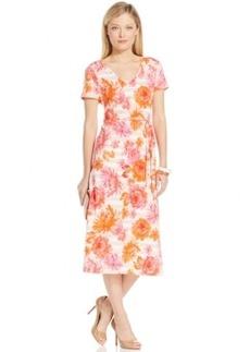 Jones New York Signature Printed Midi Dress