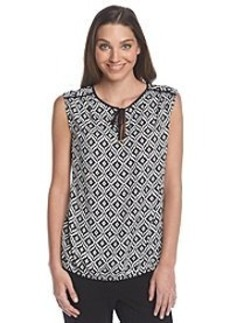 Jones New York Signature® Printed Sleeveless Blouse