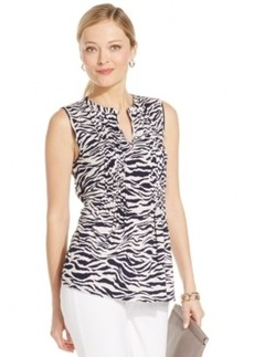 Jones New York Signature Sleeveless Animal-Print Top