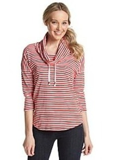 Jones New York Signature® Stripe Cowlneck Pullover