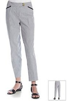 Jones New York Signature® Stripe Slim Ankle Pant