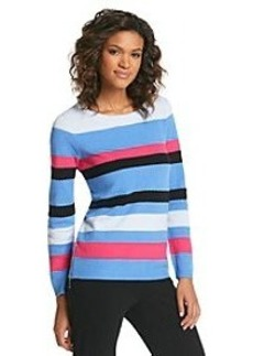 Jones New York Signature® Stripe Zipper Sweater