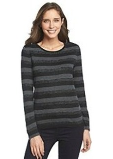 Jones New York Signature® Wide Stripe Knit Top
