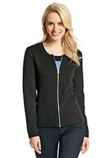 Jones New York Signature® Zip Front Cardigan