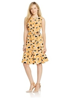 Jones New York Sleeveless Animal-Print Flare Dress