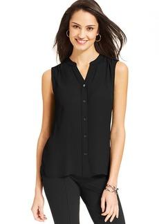 Jones New York Sleeveless Button-Front Shirt