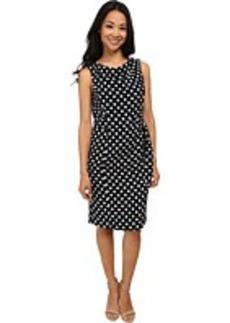 Jones New York Sleeveless Drape Neck Dress