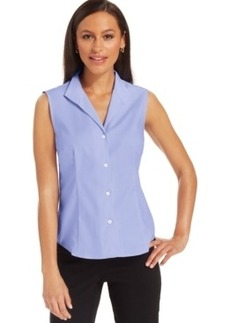Jones New York Sleeveless Easy-Care Button-Down Top