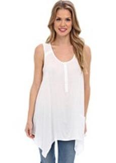 Jones New York Sleeveless Handkerchief Hem Shirt