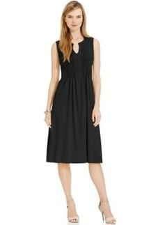 Jones New York Sleeveless Pleated A-Line Dress