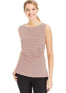 Jones New York Sleeveless Printed Drape Top