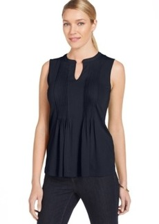 Jones New York Slit Neck Pleated Tank