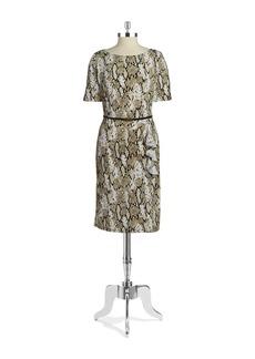 JONES NEW YORK Snakeskin Print Shift Dress