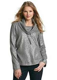 Jones New York Sport® Animal Print Cowl Neck Pullover