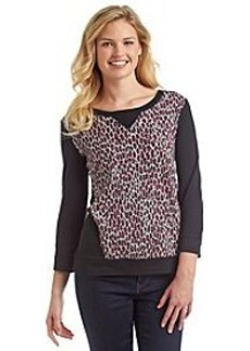 Jones New York Sport® Animal Print Knit Top
