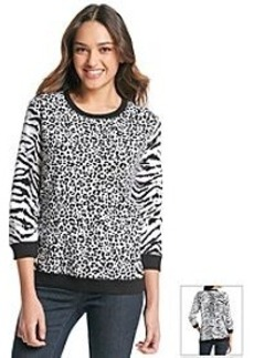 Jones New York Sport® Animal Print Pullover