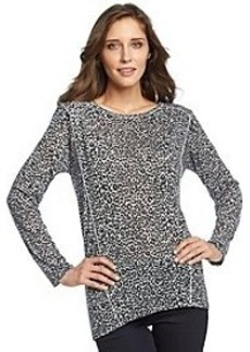 Jones New York Sport® Cheetah Print Long Sleeve Knit Top