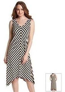 Jones New York Sport® Chevron Sharkbite Hem Dress