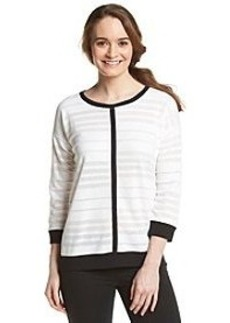 Jones New York Sport® Contrast Trim Top