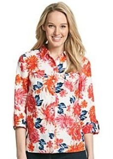 Jones New York Sport® Floral Button Front Top