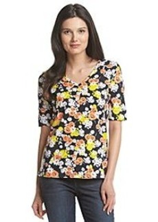 Jones New York Sport® Floral V-Neck Top