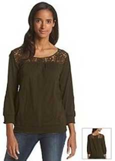 Jones New York Sport® Lace Yoke Top