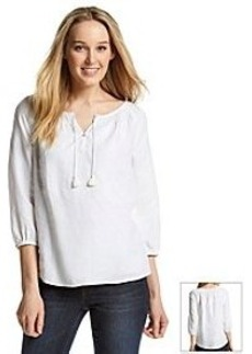 Jones New York Sport® Linen Peasant Top