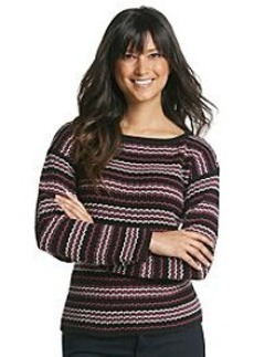 Jones New York Sport® Multi Stripe Boat Neck Sweater
