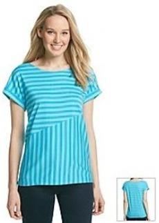 Jones New York Sport® Spliced Stripe Tee